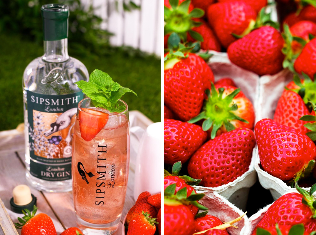 Strawberry Flavoured Summer Gin Cocktails