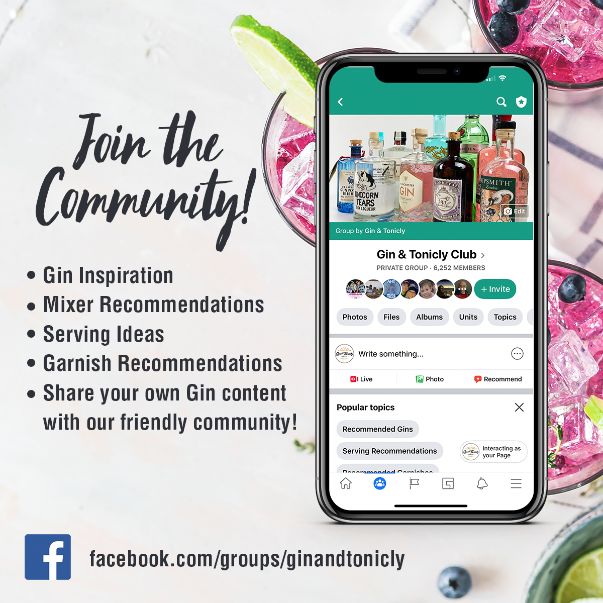 Gin & Tonicly Club Facebook